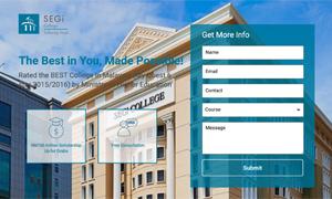 SEGI College Subang Jaya landing page screenshot