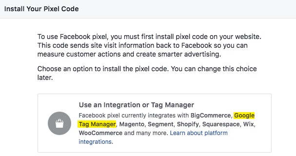 Install your Facebook pixel code