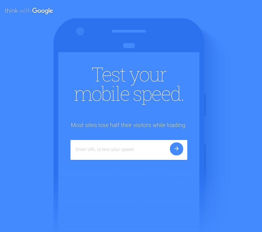 test my site - think with google