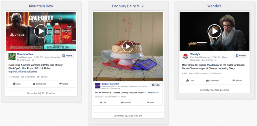Examples of Facebook Ads - Food Industry