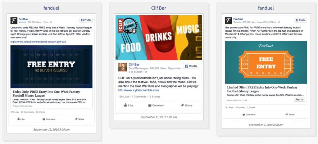 Examples of Facebook Ads - Boost Event Objective