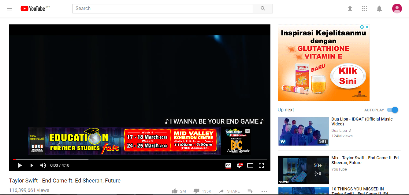 overlay Google Display Ads in YouTube