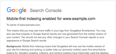 Mobile-first indexing from Google Search Console