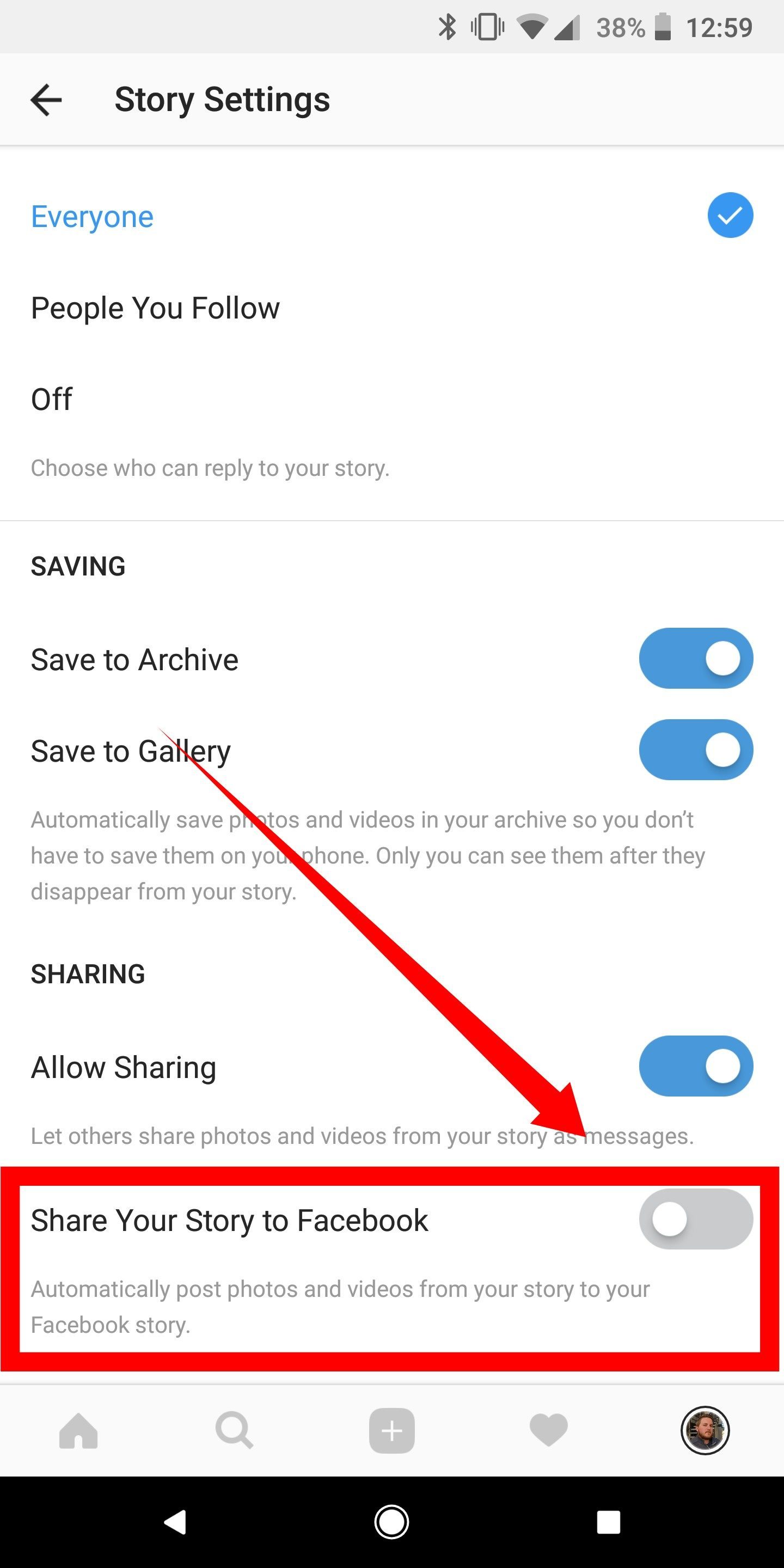 how to share instagram story to facebook