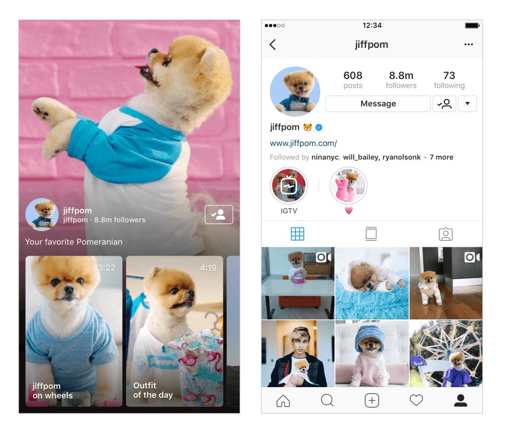 example of Instagram TV