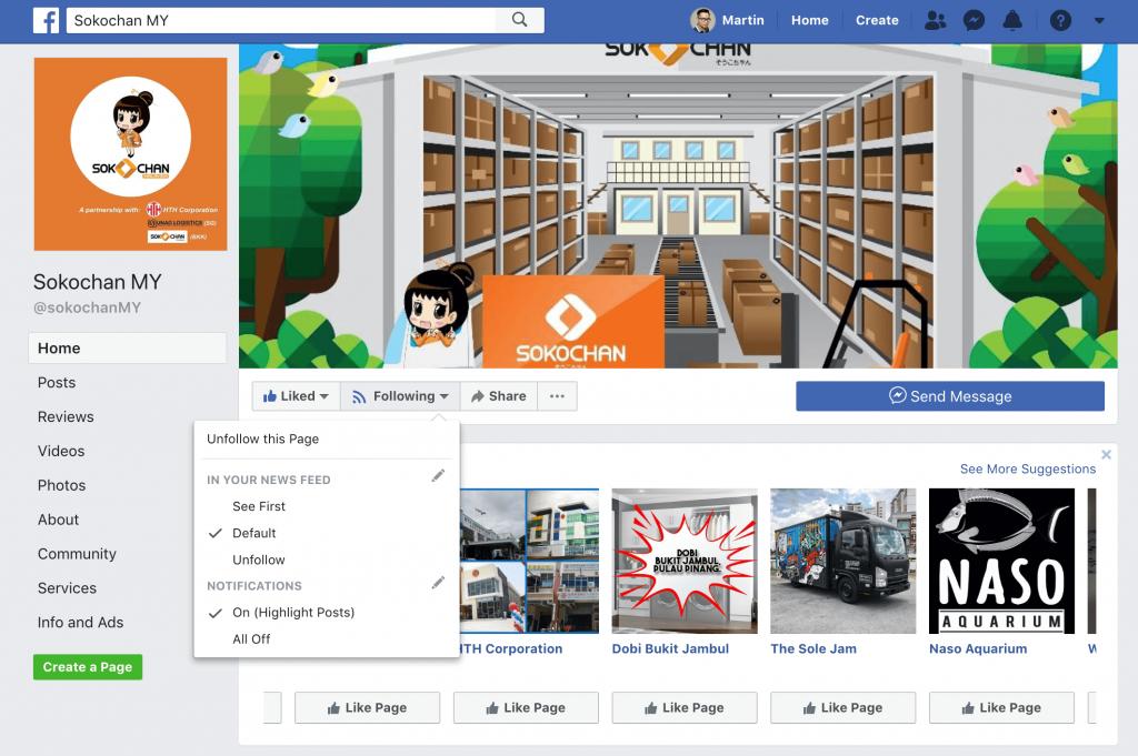 sokochan MY Facebook page