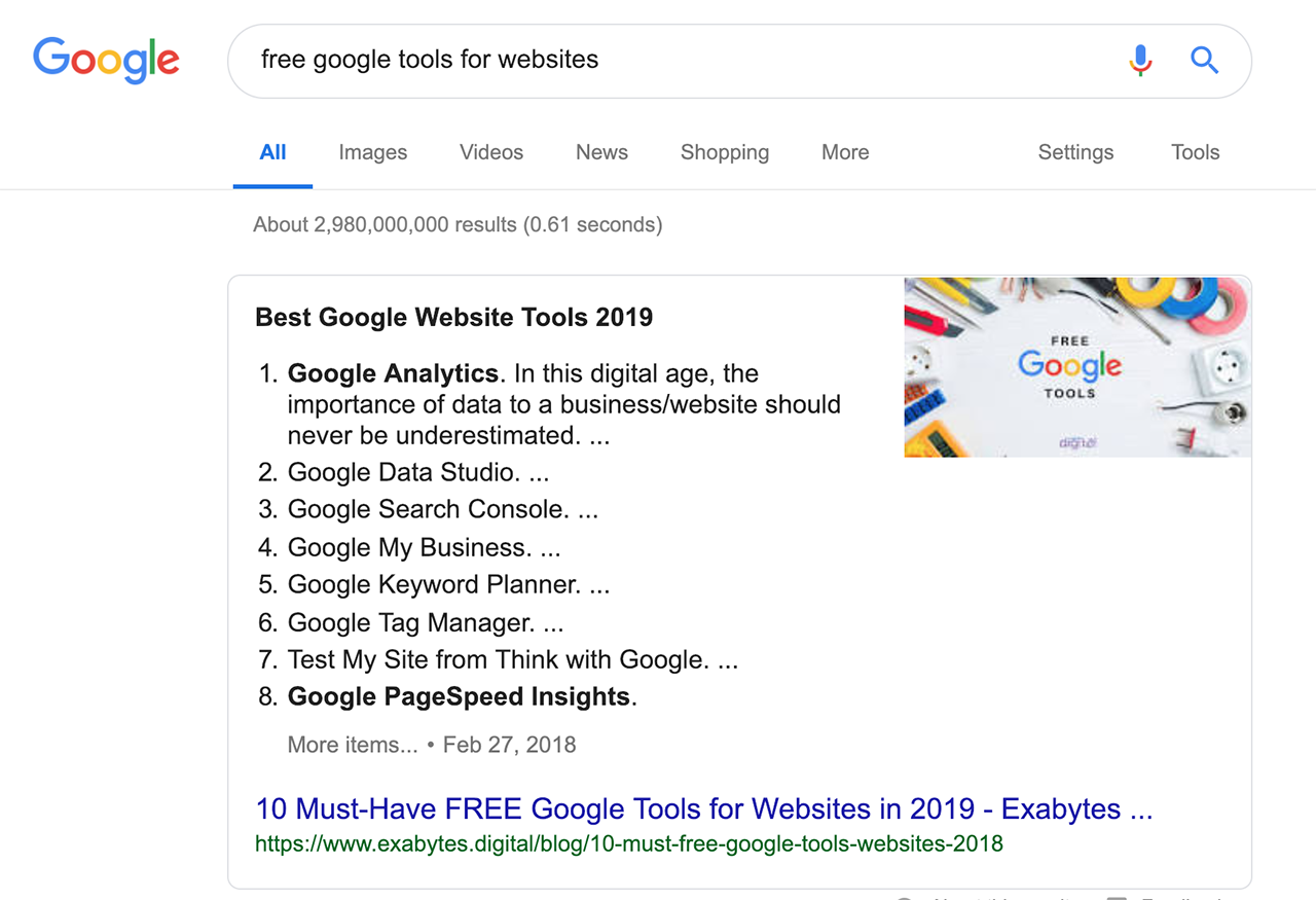 Free Google Tools for Websites
