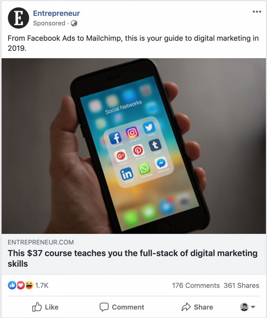 Entrepreneur Facebook Ads