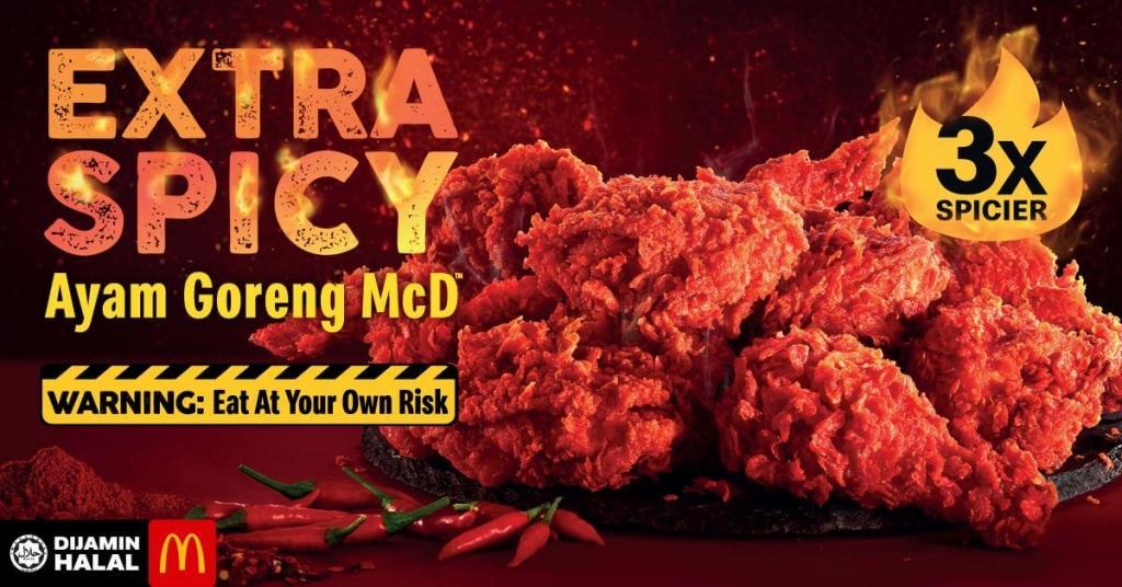 McD extra spicy ayam goreng