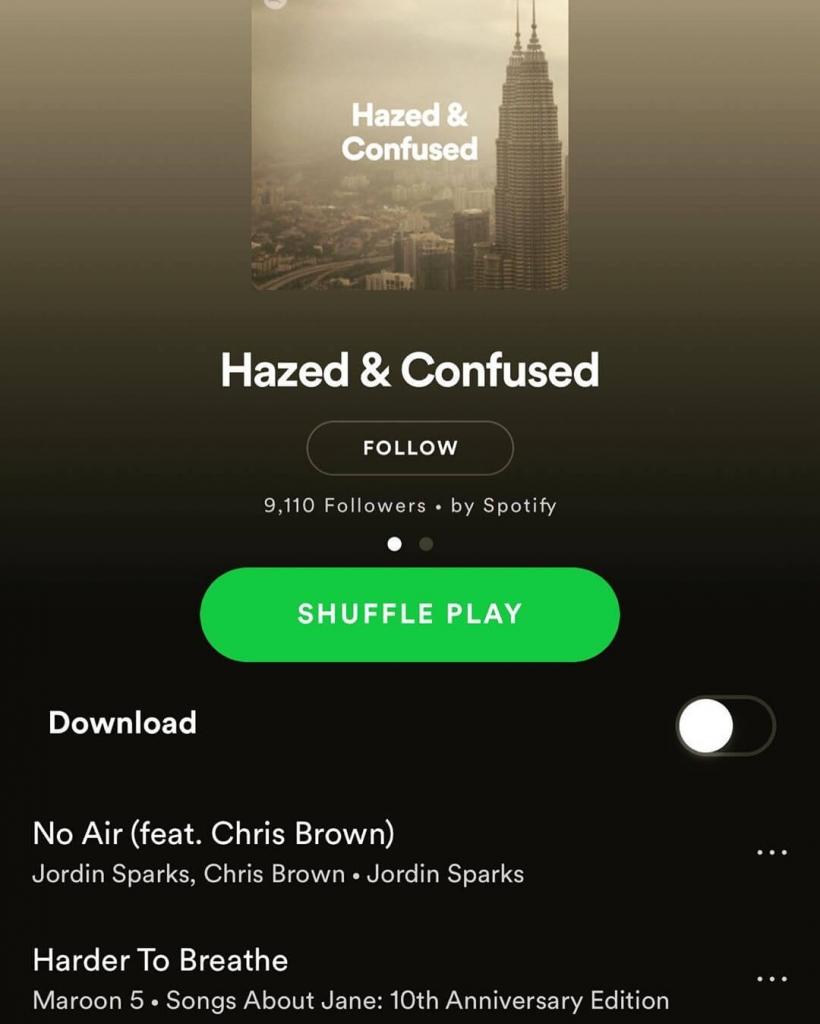 Spotify haze ad