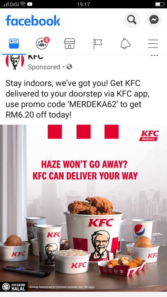 KFC app promo