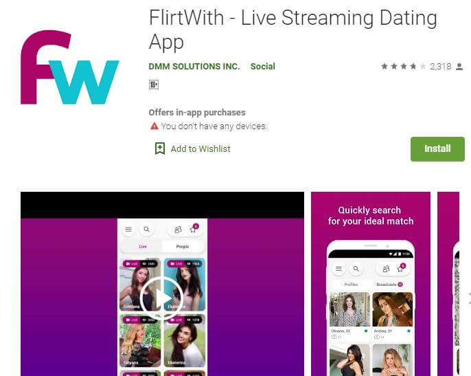 Live streaming dating app