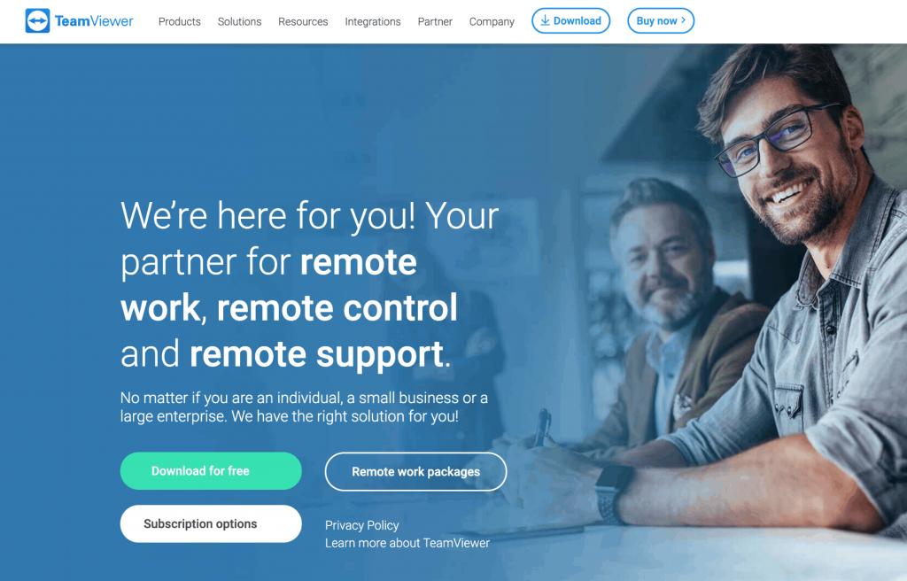 teamviewer homepage