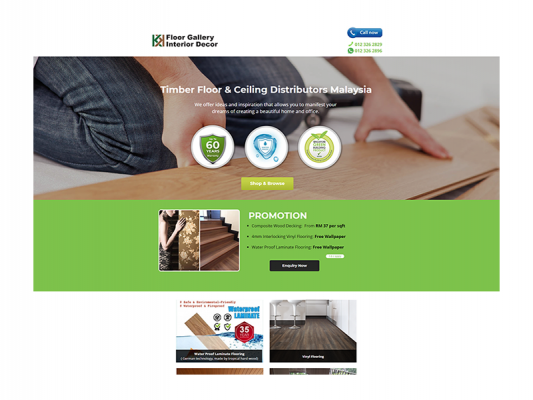 Web Design - KK Floorcovering Resources
