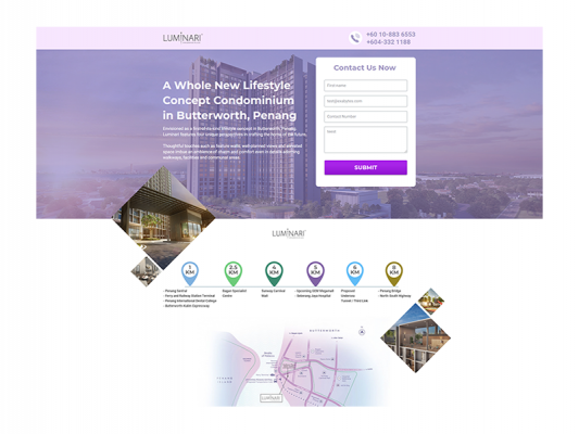 Web Design - Luminari Condominium